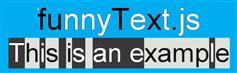 funnyText.js  有趣的文本移动效果