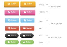 CSS3象形图按钮