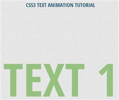 CSS3文本动画教程