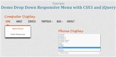响应式CSS3和JQUERY下拉菜单