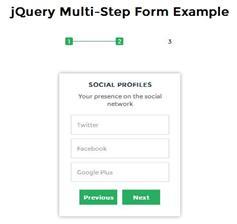 jQuery和CSS3多步骤形式的表单