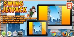 Swing Jetpack - 摇摆直升飞机  火箭飞人 HTML5游戏源码