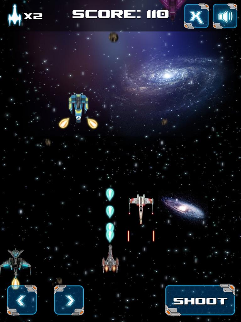 银河战争是HTML5游戏,你的目标是生存,只要可能,射击敌人的星际飞船。 键盘操作:用空格键发射,方向键控制。   3 d图形   手机兼容IOS、Android和Windows Phone   完全兼容所有浏览器支持HTML5画布   自动调整大小以适合不同的屏幕