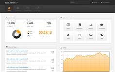 黑色大气Bootstrap顶部导航响应管理模板
