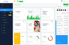 MTek - Bootstrap管理模板 5种皮肤
