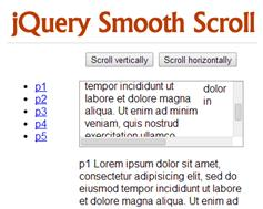 链接到指定位置平滑滚动插件jquery.smoothScroll