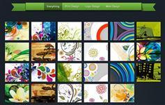 HTML5图片组合归类效果