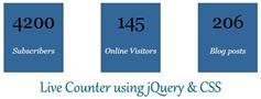 jQuery和CSS计数器