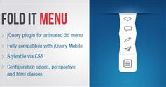 折叠的jQueryMobile 3D菜单插件