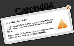 漂亮的Catch404弹出模态窗口