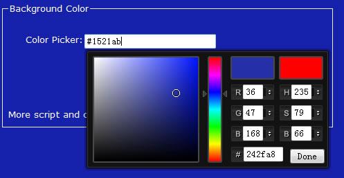 jquery颜色选择器改变背景色图片