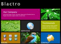 黑色 仿Windows 8 Metro界面 网站模板