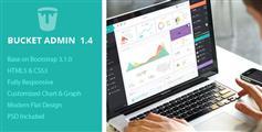 Bucket Admin - Bootstrap3扁平设计管理模板HTML5兼容手机后台模板