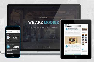 Moodie -单页视差滚动效果HTML单页面模板源码