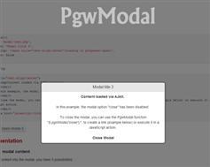 PgwModal  jQuery的响应模态/对话框窗口