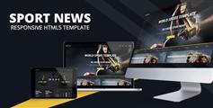 体育新闻网站HTML模板_响应HTML5体育网模板 - Sport News