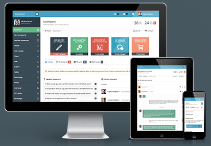 Londinium  基于bootstrap 3的响应设计管理模板