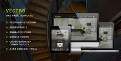 Vectro - HTML5响应设计单页面滚动视差动画效果Bootstrap模板框架