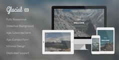 Glacial  响应式网站正在建设中模板