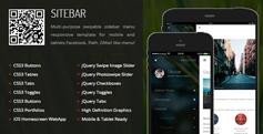 html5手機網站模板_微信網站html主題框架 - Sitebar