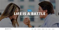 Battle -  大气宽屏HTML5响应式企业网站框架UI设计单页滚动Css3视差