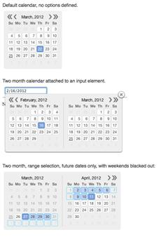 JavaScript日期选择插件_Js双日历插件 - Kalendae