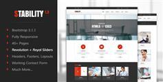 很大氣多種配色方案響應HTML5和CSS3企業網站模板框架 - Stability
