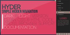 Hyder—简单的隐藏的侧边栏导航菜单