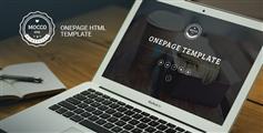 Mocco  基于Bootstrap的单页面网站模板