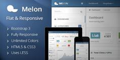Melon – 扁平化html5响应管理模板