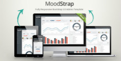 MoodStrap - Bootstrap开发的html5后台响应管理模板