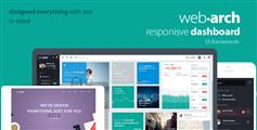 Webarch  html5响应设计后台管理模板|附漂亮的前台网站模板