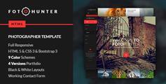FotoHunter—红色摄影网站、图片网站、工作室网站模板