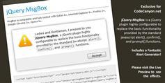 jQuery MsgBox  弹出框插件