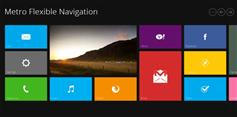 Metro Flexible Navigation  win8风格导航