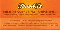 ThumbFx - 各式各样的jQuery图片悬浮效果插件jQuery鼠标悬浮图片遮罩层