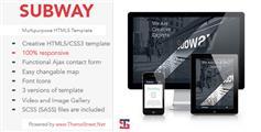 html5大气网站模板_适用手机端响应式网页模板html框架  -SUBWAY