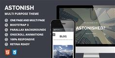 Astonish - 多用途html5响应视差模板 单页和多页版本
