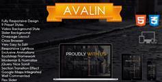 Avalin  漂亮的单页响应网站模板