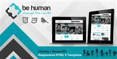 Be Human  非营利慈善机构网站模板