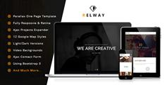 Relway  響應單頁Bootstrap 3模板