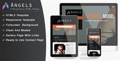 Angel  響應模特經紀公司網站模板