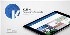 Klein - 蓝色html5和css3单页滚动视差模板_html5响应式宽屏自适用手机端