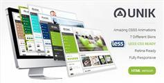 Unik - 侧边导航HTML5企业商务网站模板Bootstrap创意模板