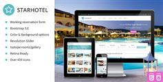 Starhotel—响应酒店预订网站模板