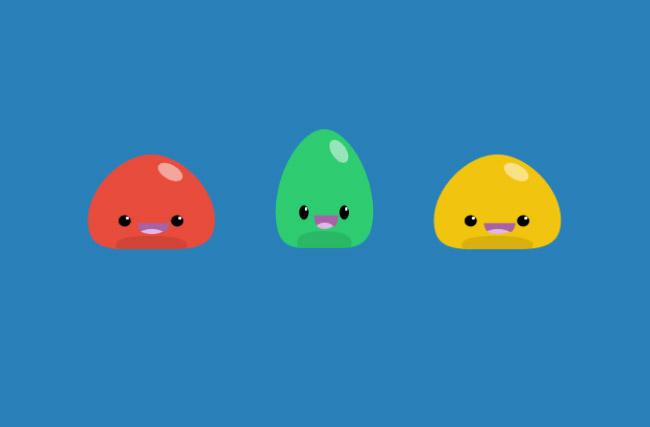 html5 svg可爱笑脸动画