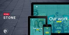 html5响应设计工作室网站模板_全屏大气html模板 - Stone