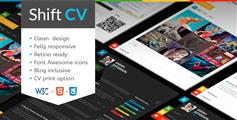 ShiftCV  个人博客网站模版、简历网站模板