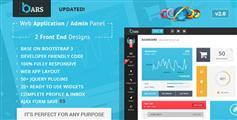Bars  Web应用程序管理员面板HTML Bootstrap3模板