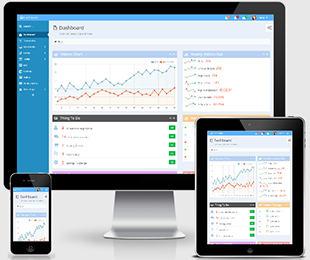 FLATY - 蓝色CRM/CMS管理系统模板 Bootstrap3框架